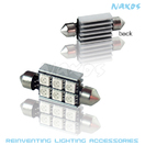 NX-FESX42-5-6 - FES42 CANBUS 5050 6 SMD Twin Set of LED Bulbs (4 Colors Avail.) by NAXOS