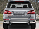 <b>12-14 Mercedes ML-Class (W166 Chassis)</b> Stainless Steel Double Tube Rear Bumper Guard