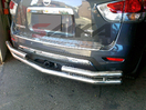 <b>13-14 Nissan Pathfinder</b> Stainless Steel Double Tube Rear Bumper Guard
